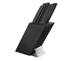 6.7186.63_Swiss Modern Messerblock_6-teilig_schwarz_Produktbild