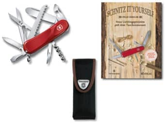 Junior 03 Set mit Nylon Etui und Buch Schnitz it yourself