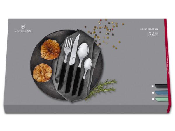 6.9093.12W.24 Swiss Modern Besteckset 24-teilig in Geschenkverpackung_Produktbild